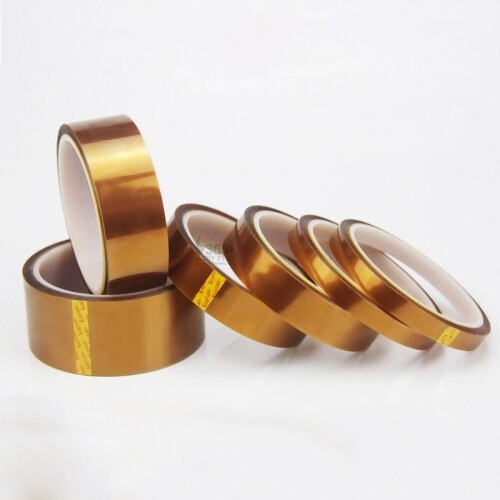 Kapton Tape High Temperature Heat Resistant Polyimide Gold Adhesive Tape(33 meter) For Electronic Industry
