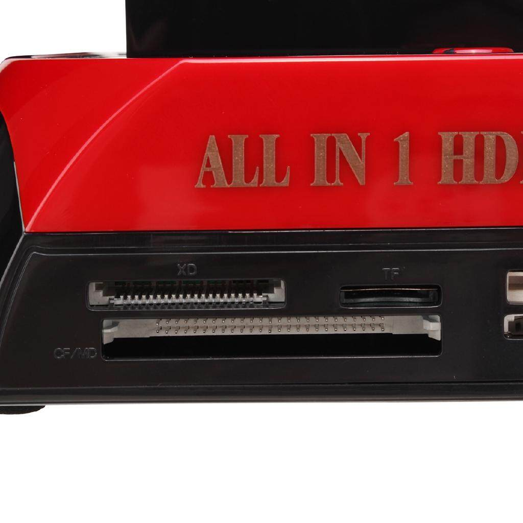 "ALLin One HDD Docking Station One Touch Backup 2.5""3.5"" Hard Drive Enclosure USB - AU / UK"