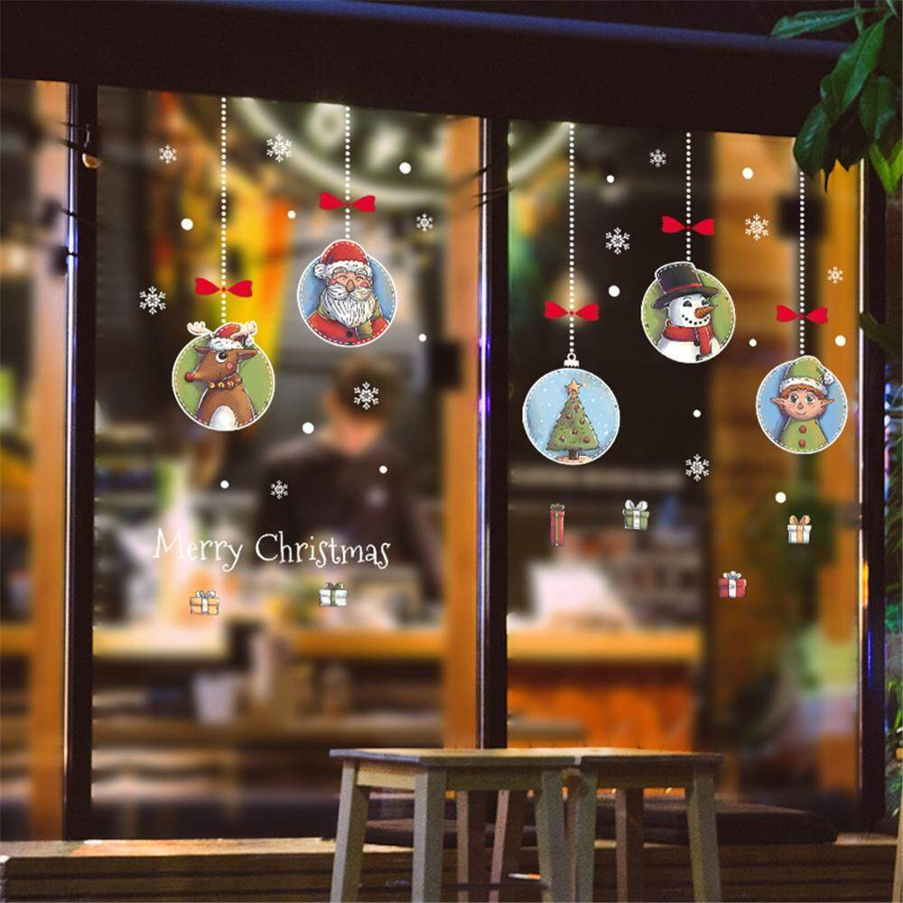 CHRISTMAS SHOP WINDOW DECORATION WALL STICKERS CHRISTMAS SNOWFLAKES