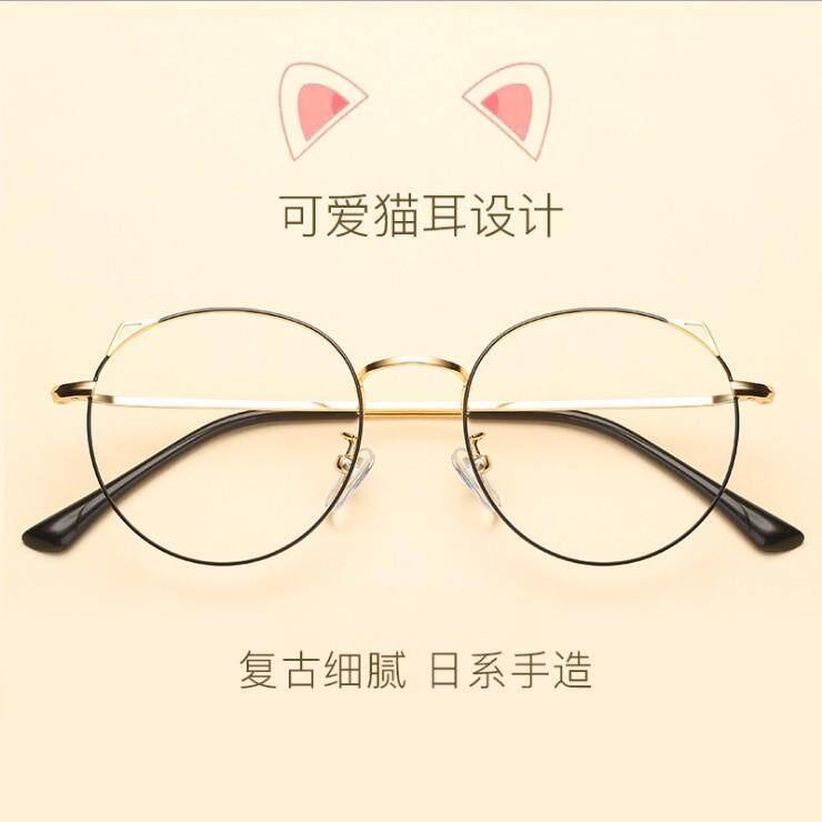 ... Telinga Kucing bingkai kacamata telinga kucing wanita rabun dekat mata  Kerangka Retro Gaya Korea bingkai besar ... bd9f969e24