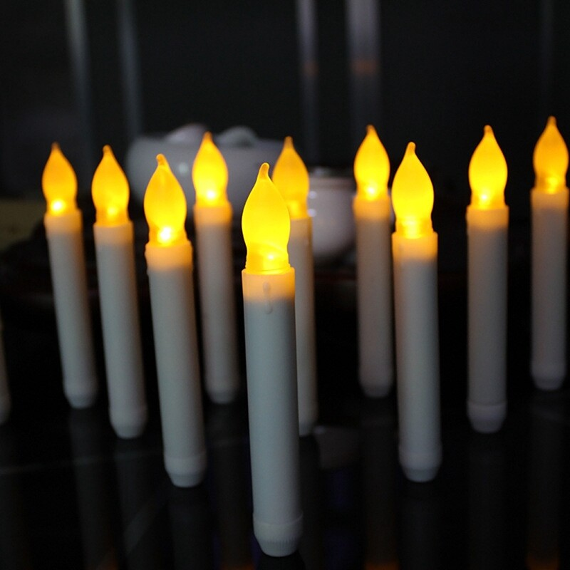 12 Cái Nến LED Không Cháy Tealight Cho Giáng Sinh Halloween Trang Trí Nội Thất