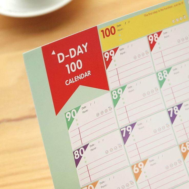 100 Days Countdown Planning Time Table ACC-055