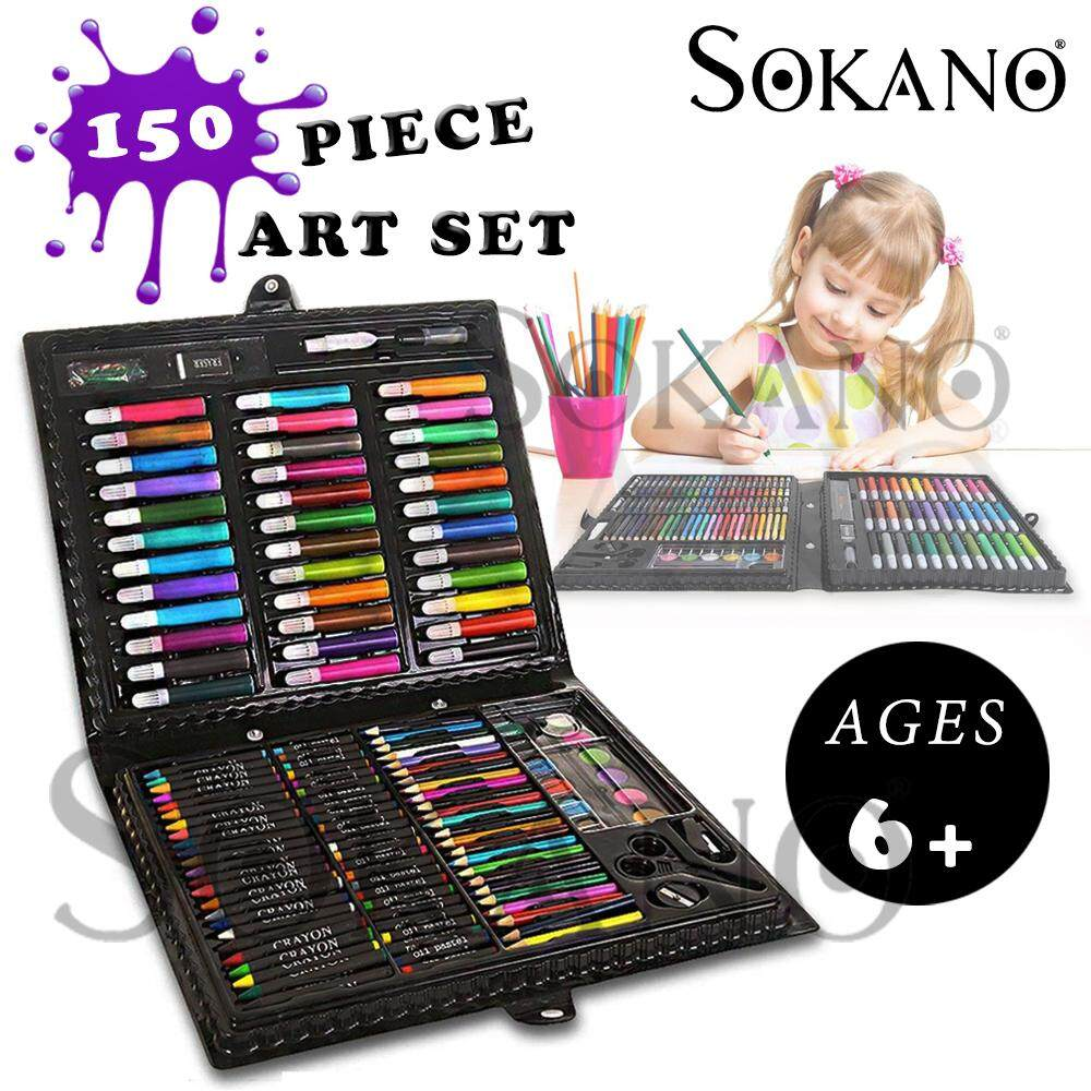 SOKANO Kid Children 150 PCS Art Set Full Coloring Stationary Gift Set