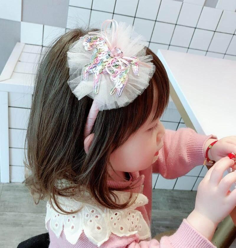 c46cb58095721 Kids Girl Unicorn 3pcs Headband Hair Clip Hairband Set