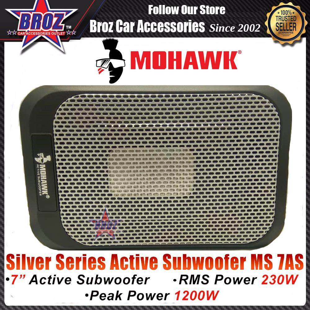 Mohawk Silver Series Active Subwoofer Silver MS 7AS RMS Power 1200W Peak Power 230W