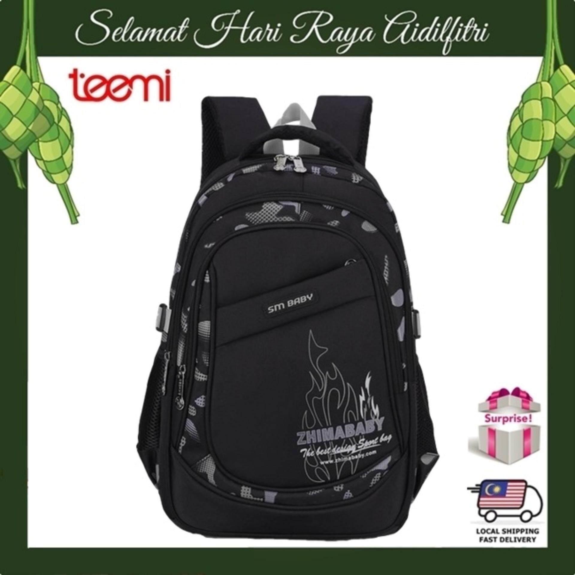 TEEMI Neon Framed Primary Secondary Nylon Water Resistant Orthopedic School Bag Kids Children Backpack - Grey