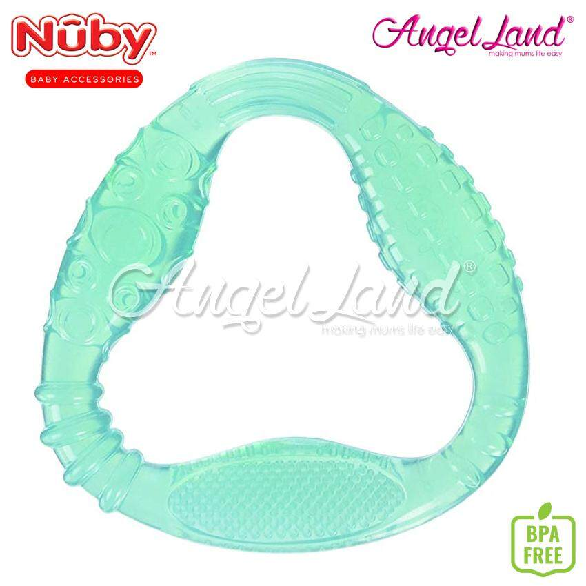 Nuby comfort series comfy gums triangle silicon teether-NB53000 (Random Color)