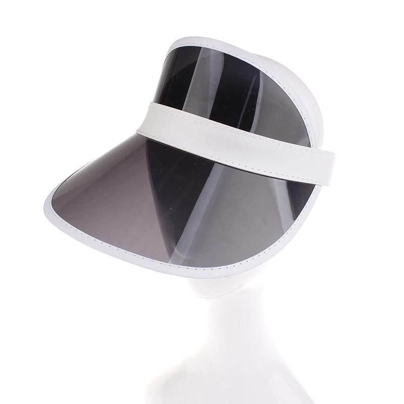 Musim Panas Baseball Wanita Cap Warna Permen Transparan Kosong Atas Topi Pantai PVC Plastik Topi Kerudung