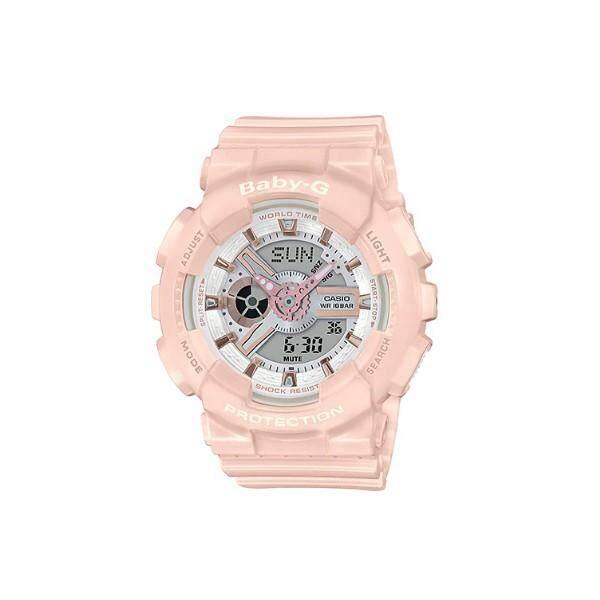 Casio BB-G BA-110RG-4A Rose Gold Metallic Pastel Pink Band Watch