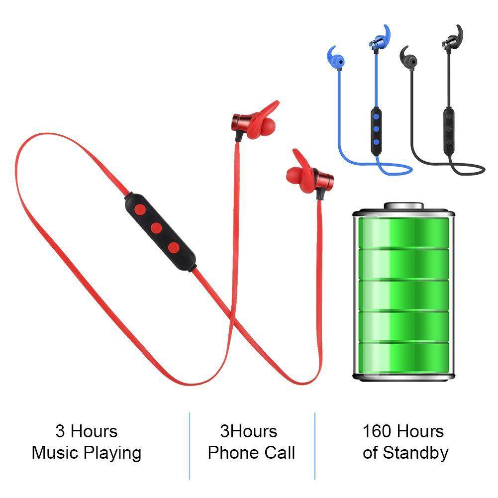 Other Gadgets - Noise Cancelling Sports Bluetooth Headset Sports Sports  Headphone - [RED / BLUE / METAL]