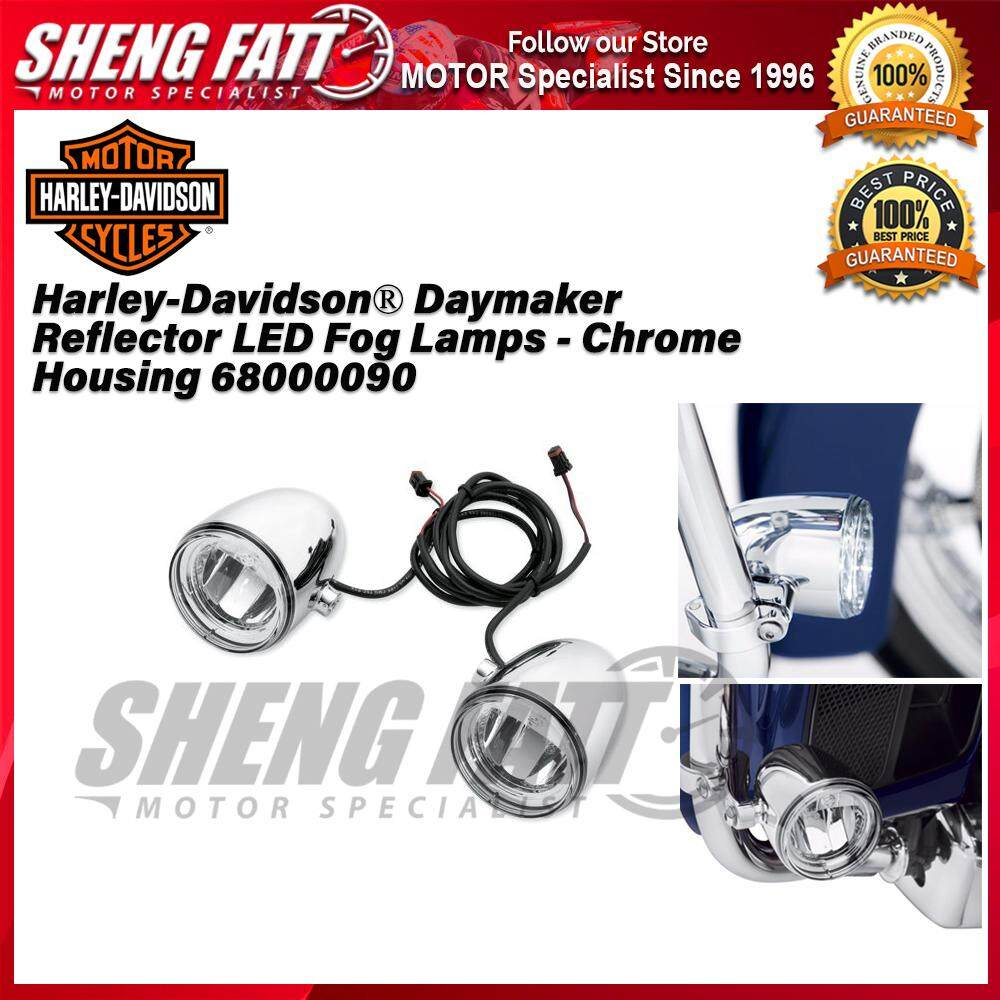 Harley-Davidson® Daymaker Reflector LED Fog Lamps - Chrome Housing 68000090 - [ORIGINAL]