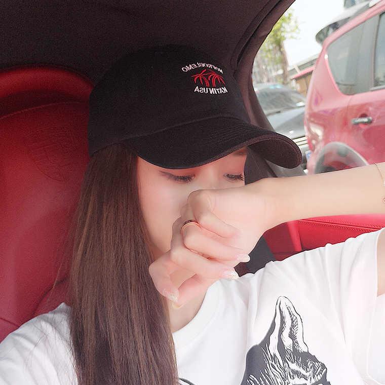 ♀▣ Nam Ngôi Sao Hàn Quốc Với Ins Hip-Hop Mũ Sành Điệu Của Cô Màu Đỏ Hoa Cúc Nhỏ Mũ Bóng Chày Han Edition Joker Cap