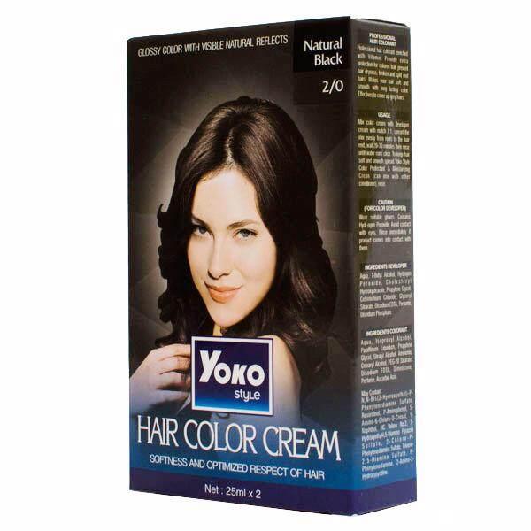 (natural black) yoko style hair colour cream (halal)30ml all colour available