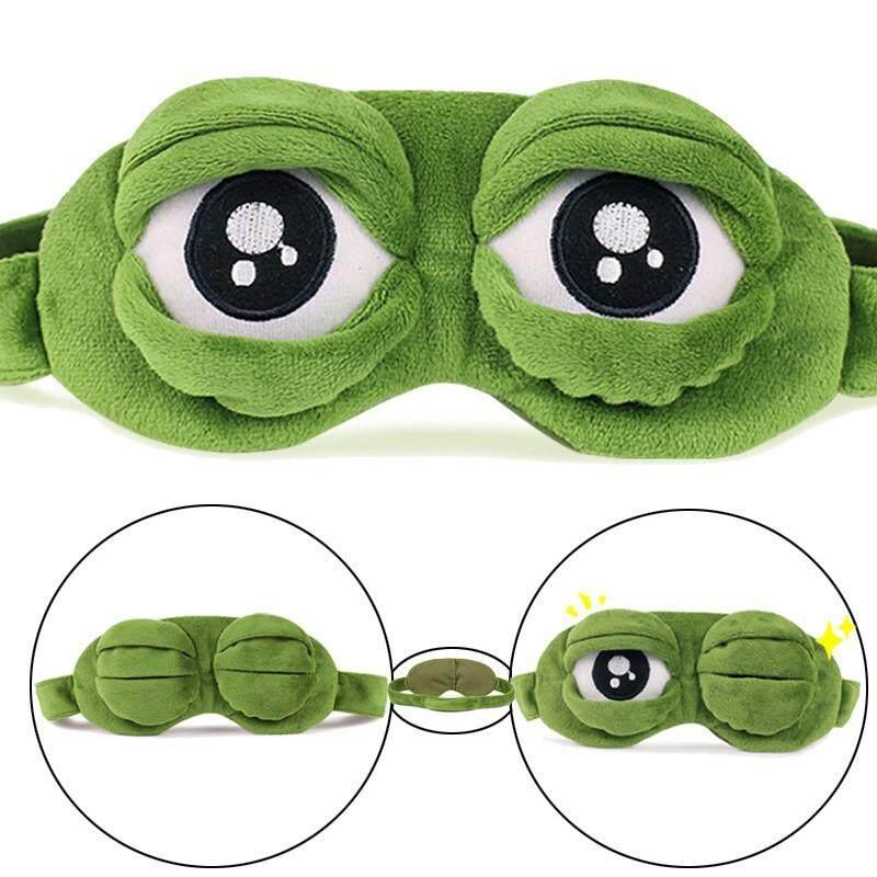 Eyewear - Cute  Cartoon Frog Eyeshade Portable Travel Sleep Rest 3D Eyes Cover