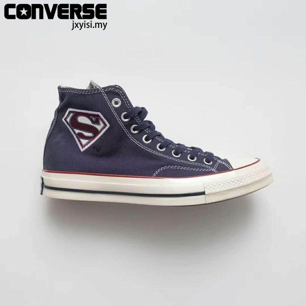 การใช้งาน  มหาสารคาม Converse ออริจิน้อล Chuck Taylor All Star 1970 S Superman ชายรองเท้ารองเท้าผ้าใบสตรี