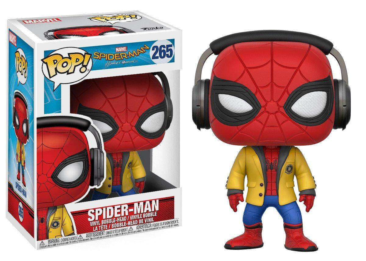 Funko Spider-Man: Homecoming Spider-Man with Headphones Pop! Vinyl Bobble Head #265