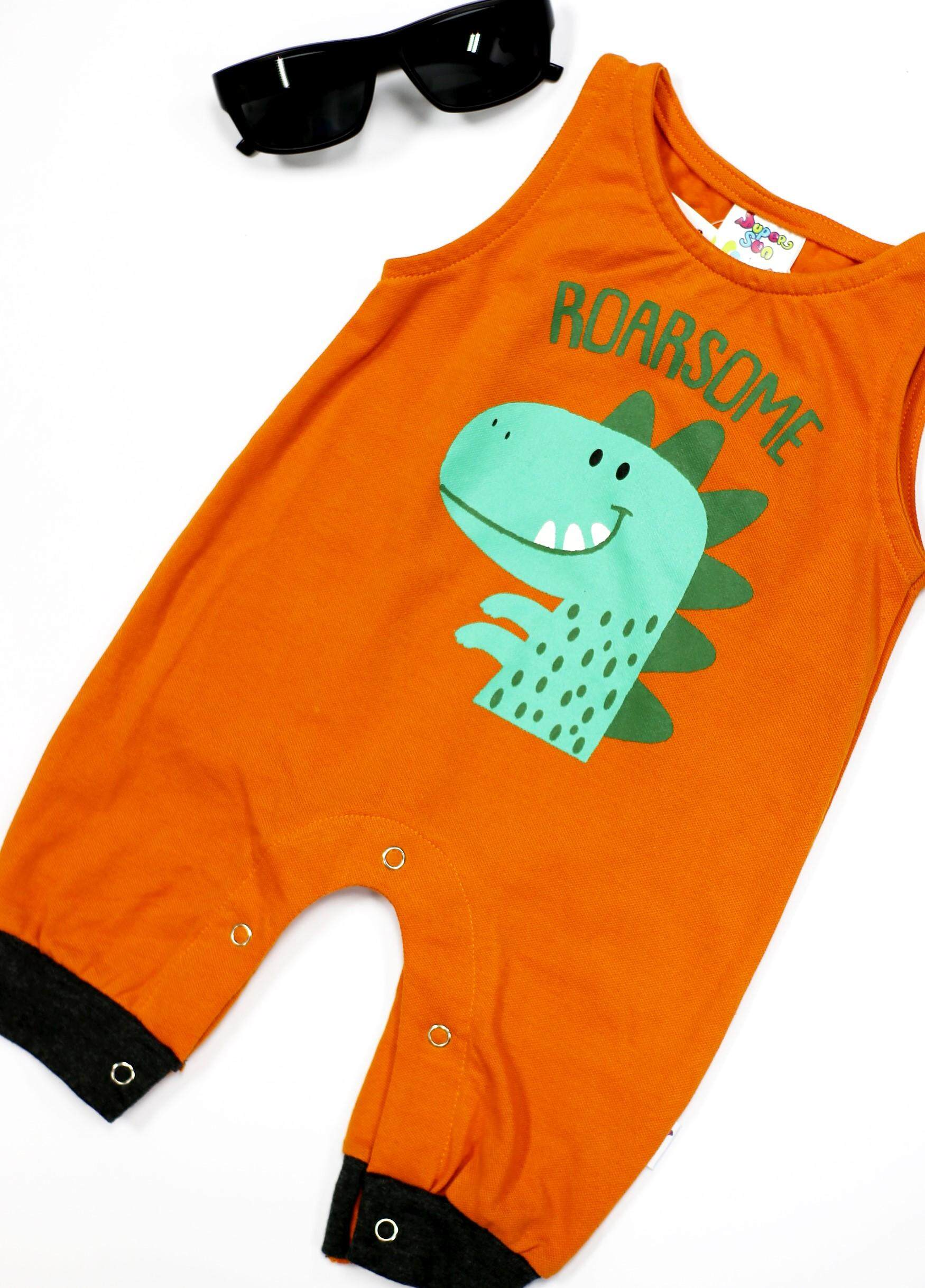 Supersun Infant Romper Newborn Boy's/Girls Short Sleeve Kids Romper Clothes RP-25 Orange