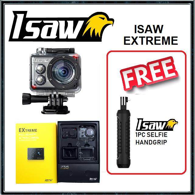 ISAW EXTREME ACTION CAMERA (WIFI) FOC 1PC ISAW HANDGRIP [READY STOCK]