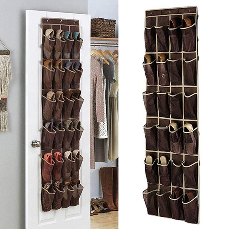 Cocotina 24 Saku Sepatu Ruang Pengatur Gantungan Pintu Rak Tas Dinding Lemari Penyimpanan Pemegang - 2 ...