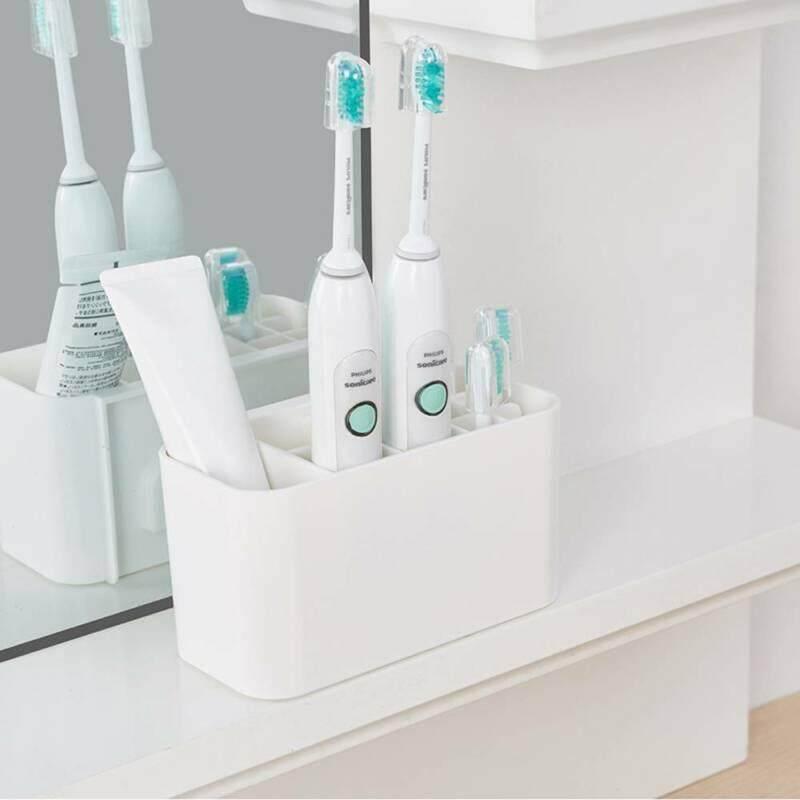 แปรงสีฟันไฟฟ้า ช่วยดูแลสุขภาพช่องปาก อุบลราชธานี Spazzolino ไฟฟ้าผู้ถือ Dentifricio Spazzolino ขาตั้ง Bagno Organizzare