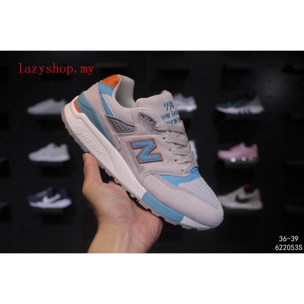 ยี่ห้อไหนดี  กำแพงเพชร ขายดี New Balance 998 รองเท้าผ้าใบสำหรับชายและหญิงกีฬารองเท้าสบายๆสีฟ้า