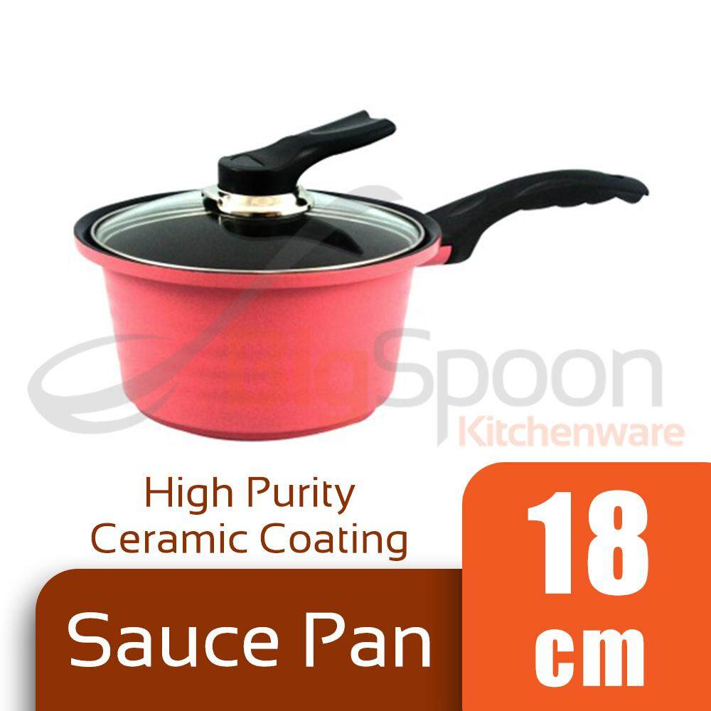 BAUER Sauce Pan High Purity Ceramic Coating 18cm