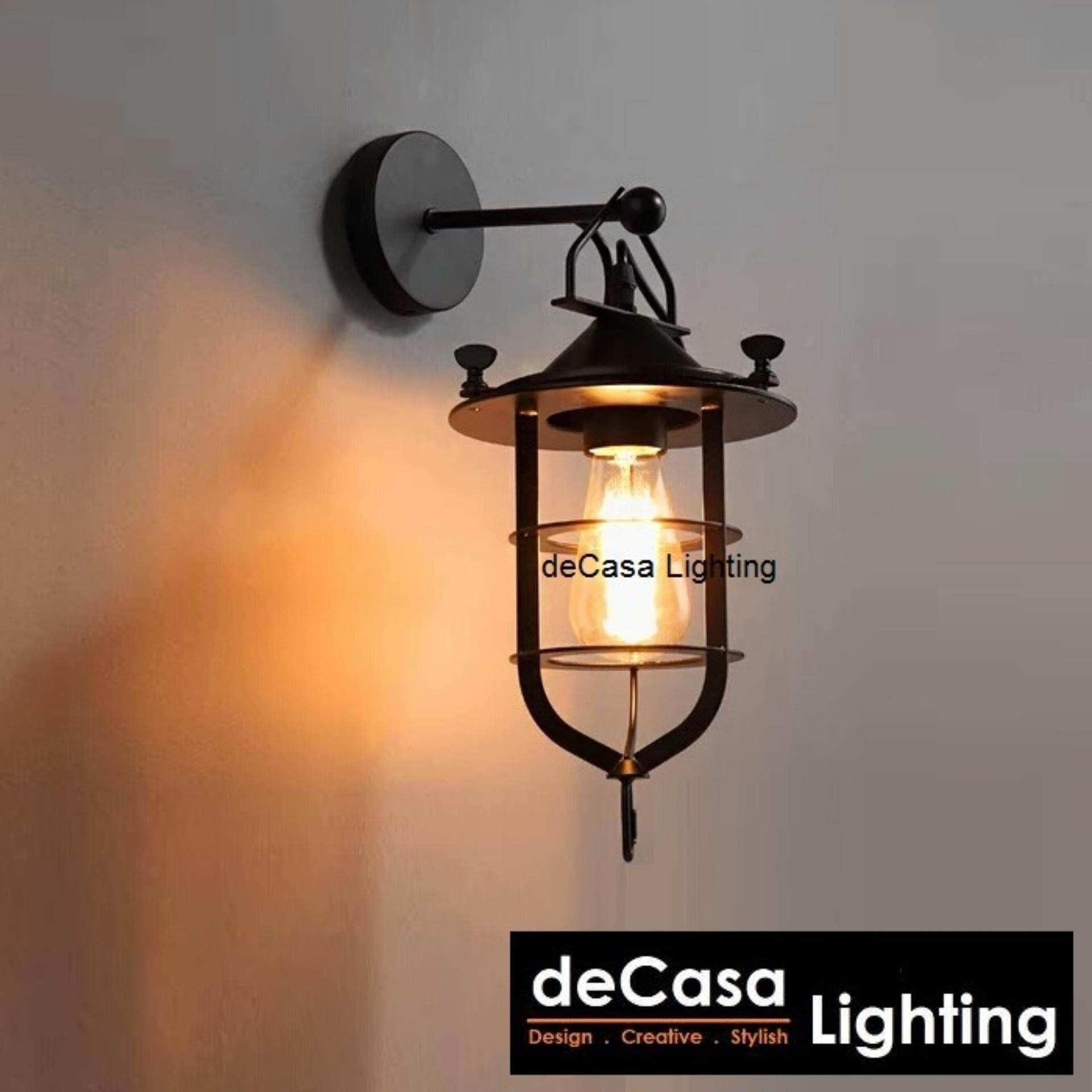 Decasa Lighting Best Seller Decorative Wall Lights (Black) Designer Wall Lights Loft Retro Design Decorative Wall Lamp DECASA WALL LIGHTING (LY-RQY-035)