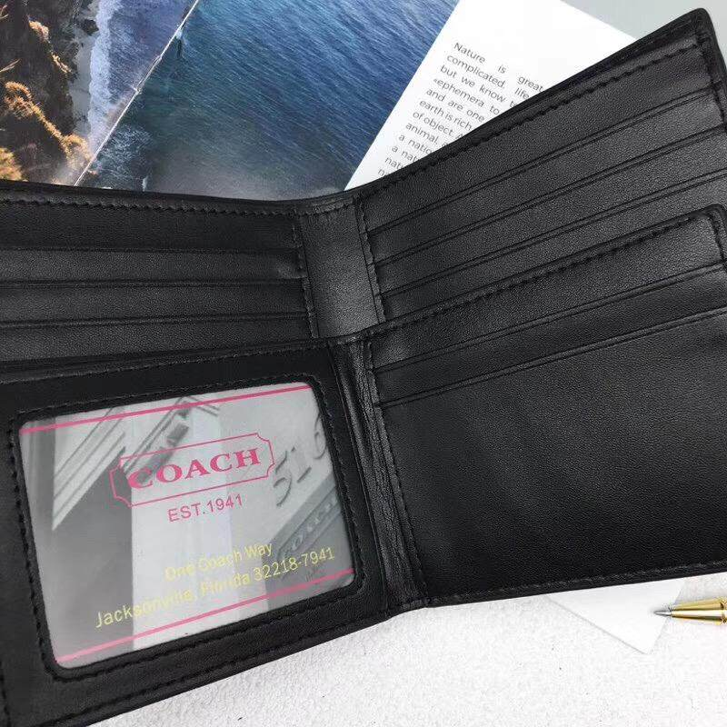 COACH Compact ID Wallet In Signature F74993