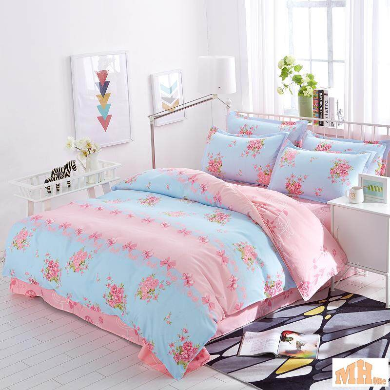 Maylee High Quality 4pcs Peaceful Flower Queen Bedding Set (FM-PF)