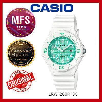 2 YEARS WARRANTY) CASIO ORIGINAL LRW-200H-3C SERIES STUDENT & KID'S WATCH