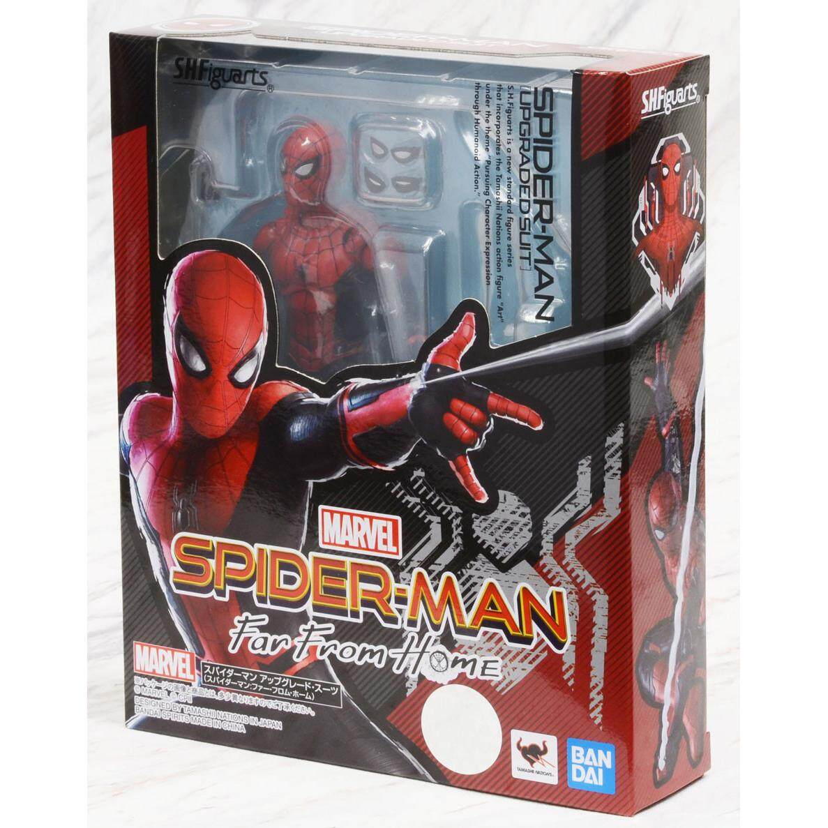 S.H.Figuarts Spider-Man Upgrade Suit Far From Home Action Figure w// Tracking NEW