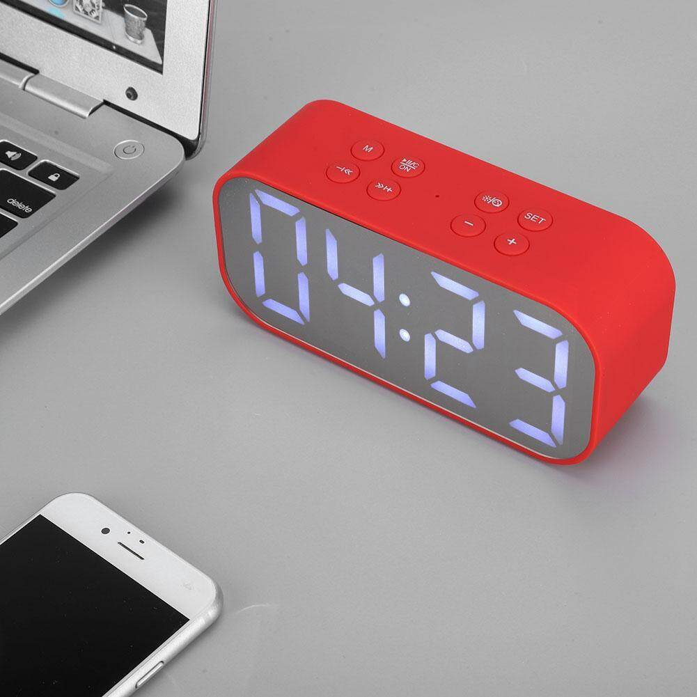 Home Audio Accessories - Speaker BT501 Music Bluetooth5 0 AEC Speaker Bluetooth Outdoor Alarm Clock - [BLACK / BLUE / RED / PINK]