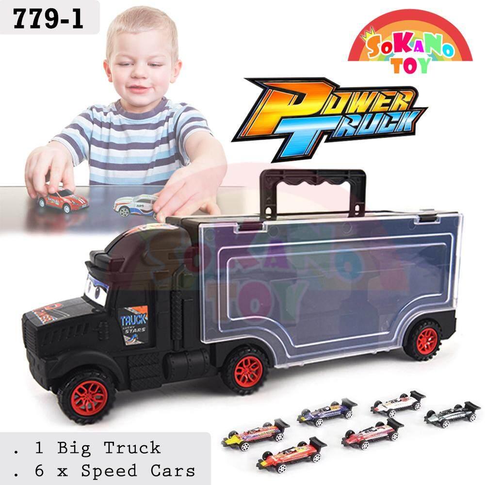 SOKANO TOY Power Truck Store Up Vehicle Toys Car With 6 Speed Cars Kereta Mainan