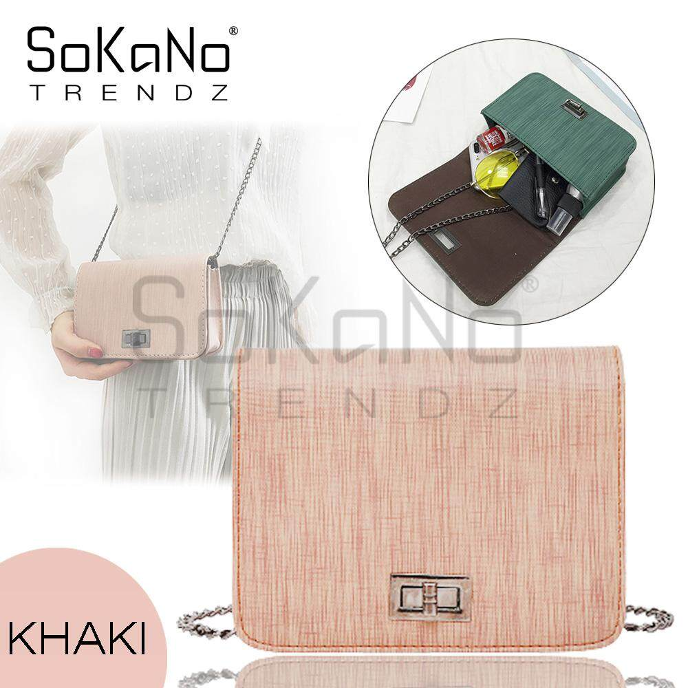 SoKaNo Trendz SKN640 Korean Women Handbag Korea Style Fashion Wild Sling Bags Crossbody Shoulder Bags Sling Bag Handbeg Wanita