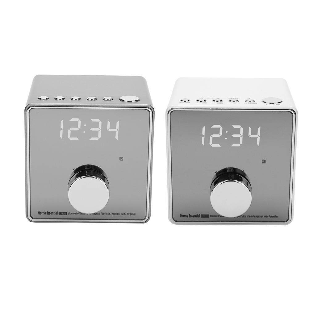 Clocks - Music Player Alarm Clock Record Repeat Radio Support TF USB - [GUNCOLOR / GRAY]