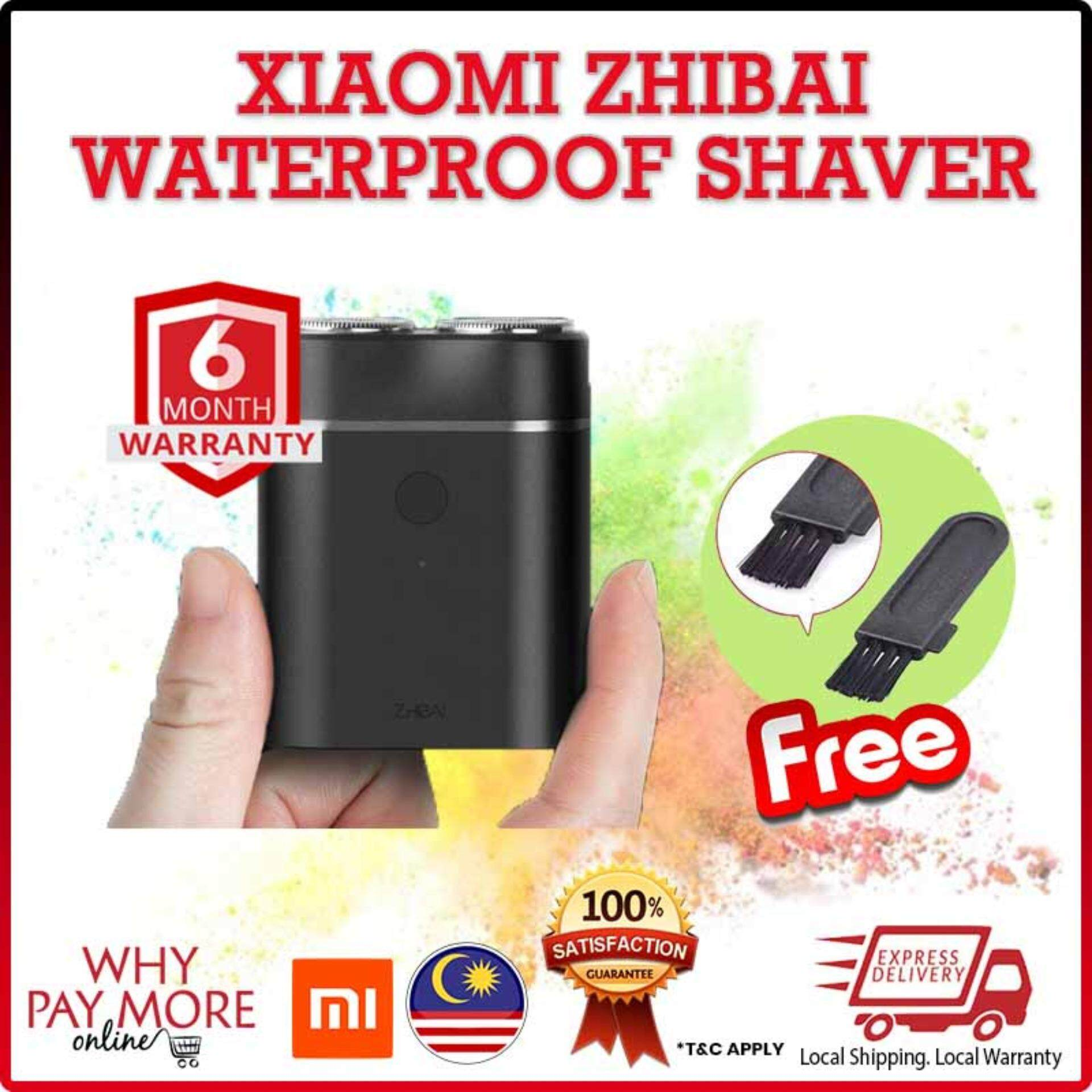 [NEW YEAR FREE GIFT][FREE SHIPPING]Original Xiaomi Zhibai Mijia Electric Portable Smart Razor IPX7 Waterproof Mi Dual Head Men Shaver Zhi Bai
