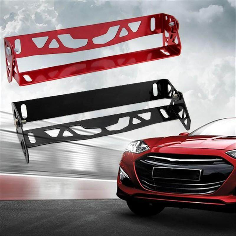 Car Accessories - Universal Styling Aluminum License Plate Frame Adjustable  Racing Number Holder - [BLACK / BLUE / RED / PURPLE]