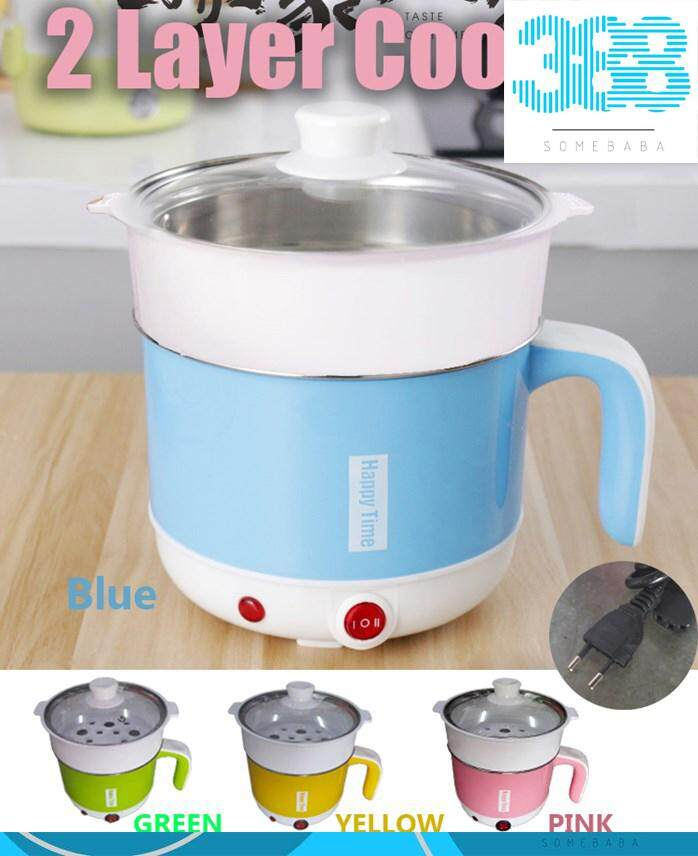 【READY STOCK-RANDOM COLOR】Happy Time 17CM Stainless Steel Cooker With Steam Basket