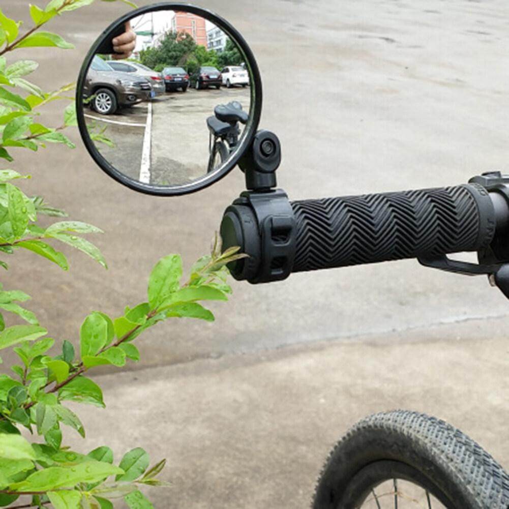 ยางนิรภัย + ABS ปรับได้ 360 ° หมุนมองหลังจักรยานกระจกมองหลังจักรยานมือจับกระจกมองข้างรถจักรยานยนต์
