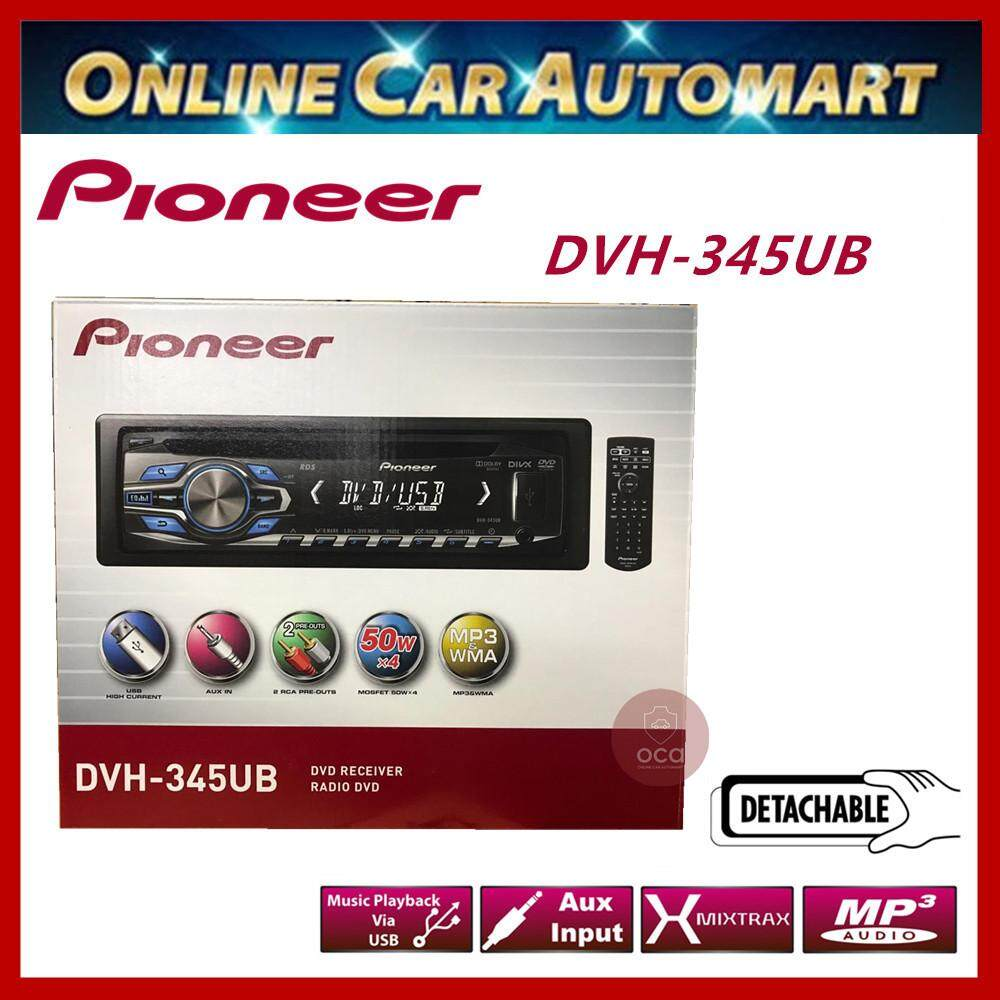 Pioneer Single Din DVD/USB/FM Receiver with Front USB Port and Front AUX