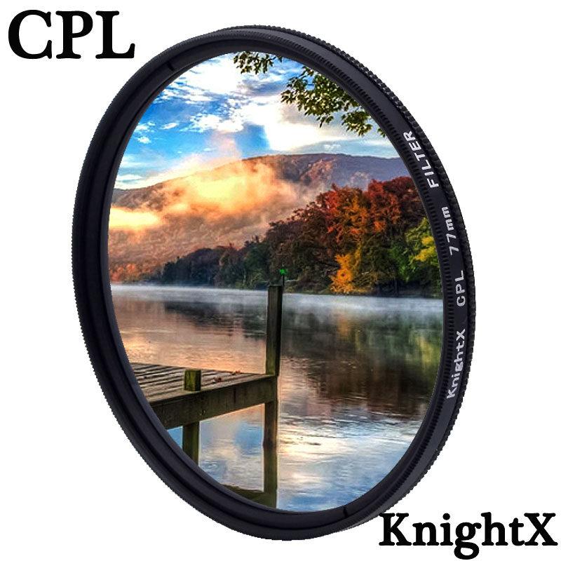 Knightx CPL P olarizing กล้องเลนส์กรองโพลาไรสำหรับ Canon Nikon 49 มิลลิเมตร 52 มิลลิเมตร 55 มิลลิเมตร 58 มิลลิเมตร 62 มิลลิเมตร 67 มิลลิเมตร 72 มิลลิเมตร 77 มิลลิเมตร