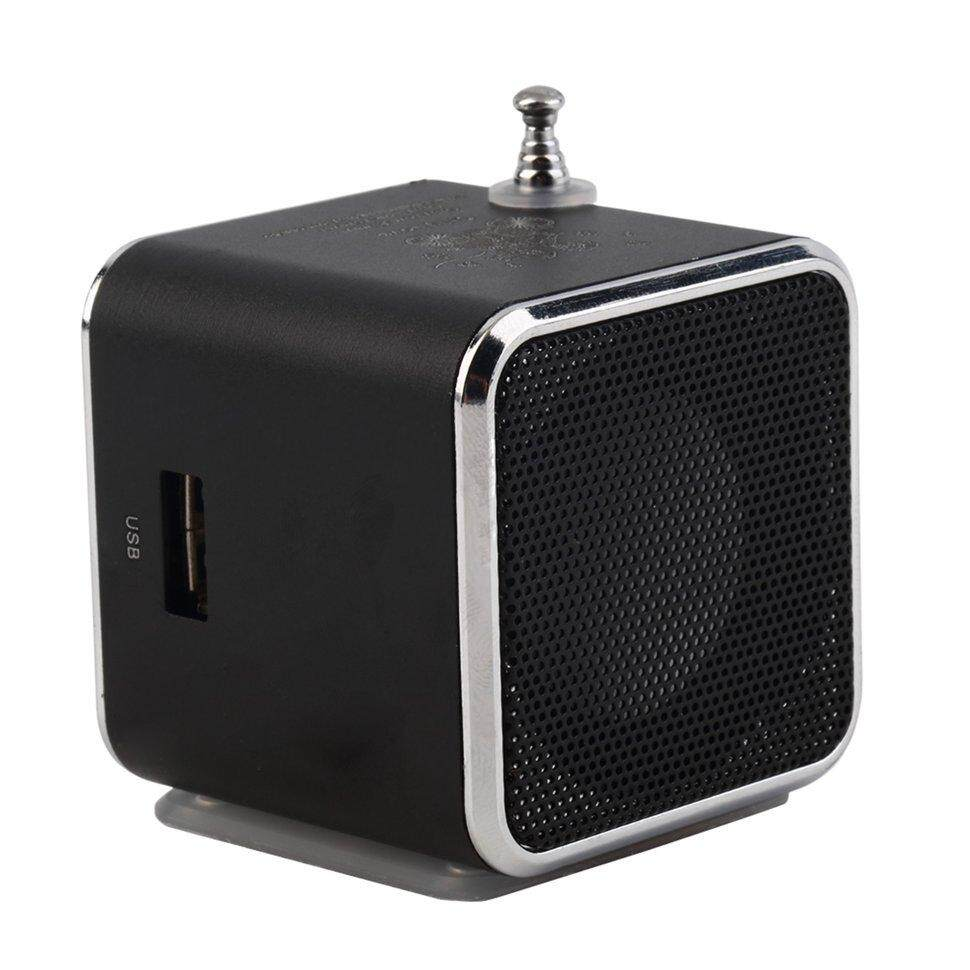 Uinn Portable Tf Usb Mini Stereo Pemutar Musik Speaker Fm Radio PC MP3/4-