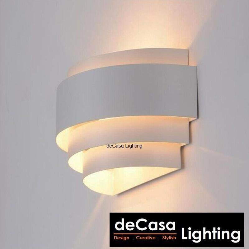 Modern Wall Light Indoor Decorative Wall Lamp Bedroom Bedside Lighting Decasa Lighting Modern White (NSB-JCX0012-WH-RD)