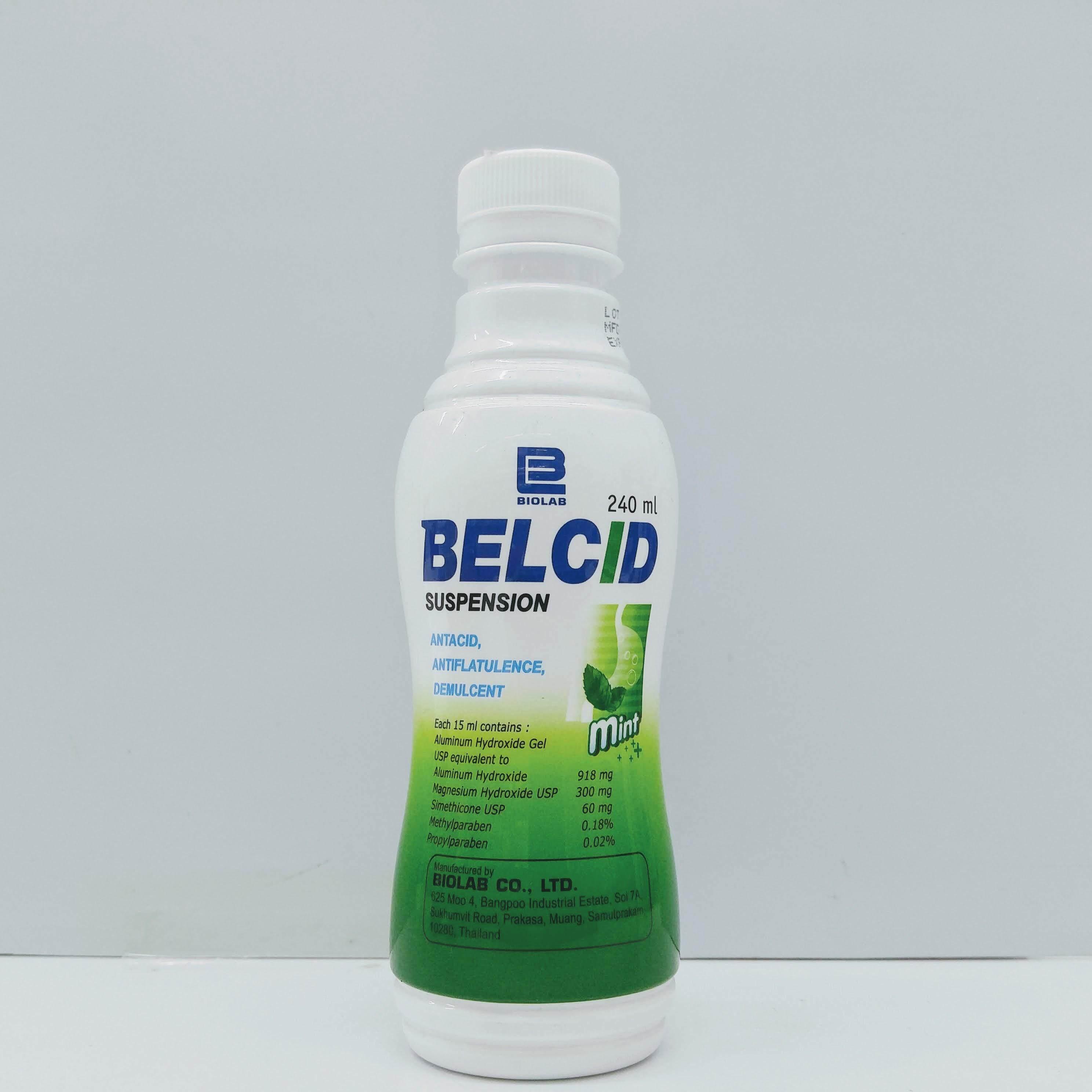 Belcid Antacid Mint Suspension 240ml exp21.05