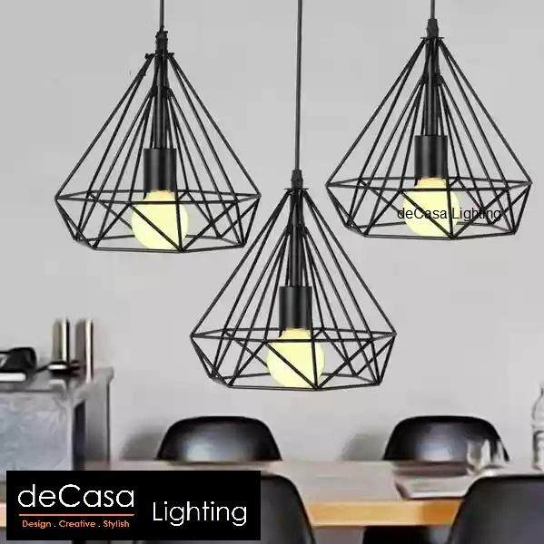 Decorative Hanging Light Brown Colour Ceiling Light DECASA Ceiling Light Long Based Hanging Light (LY-TY201-25-3LB)