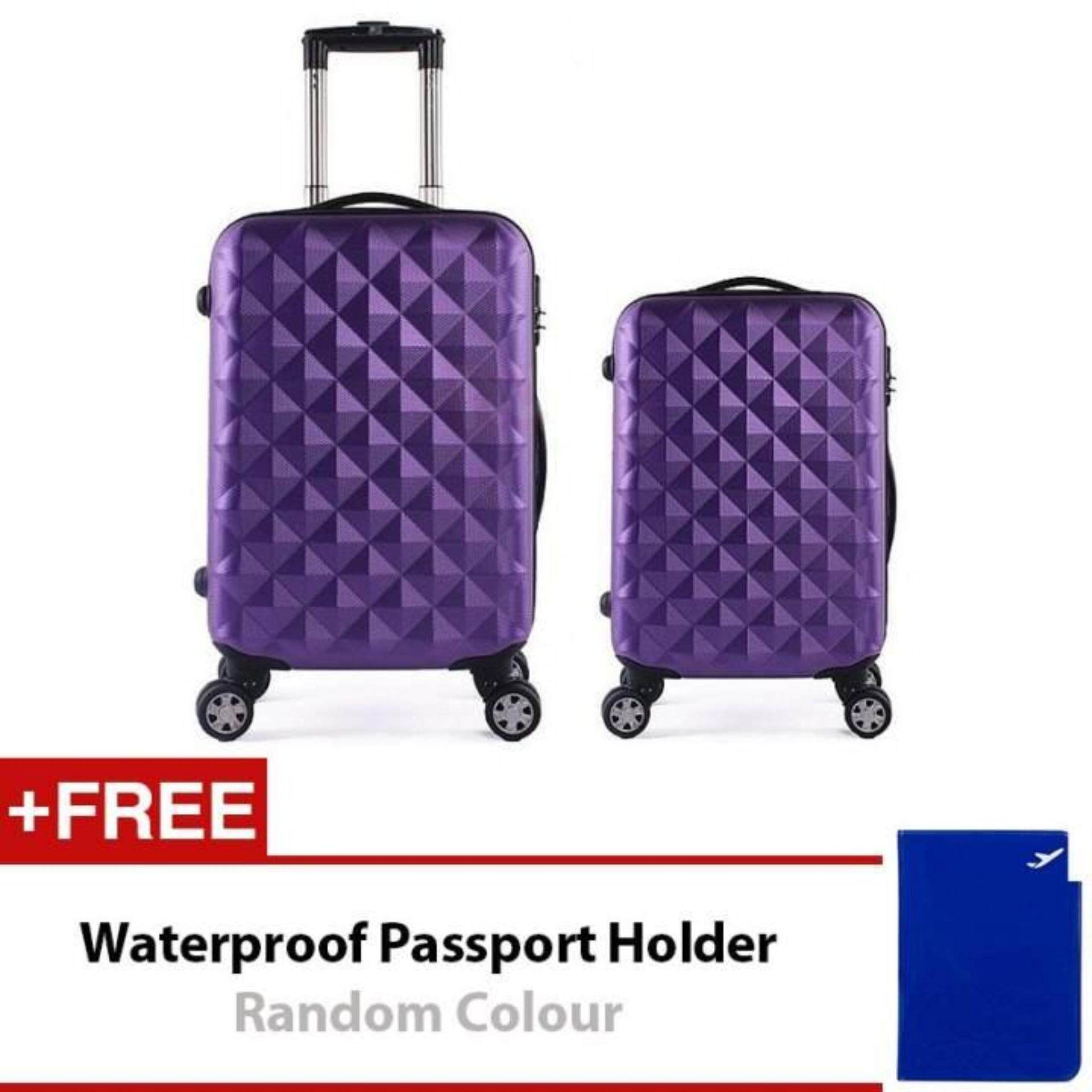 Travel Star SD Series 2 in 1 Luggage Bagasi Set Purple