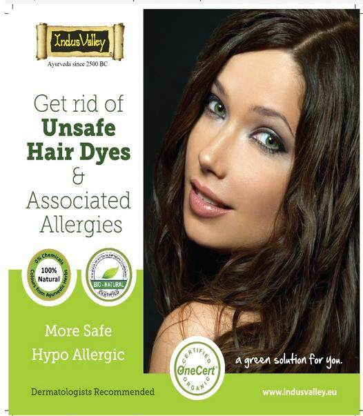 indus valley dark brown gel colour 25ml packet hair colour