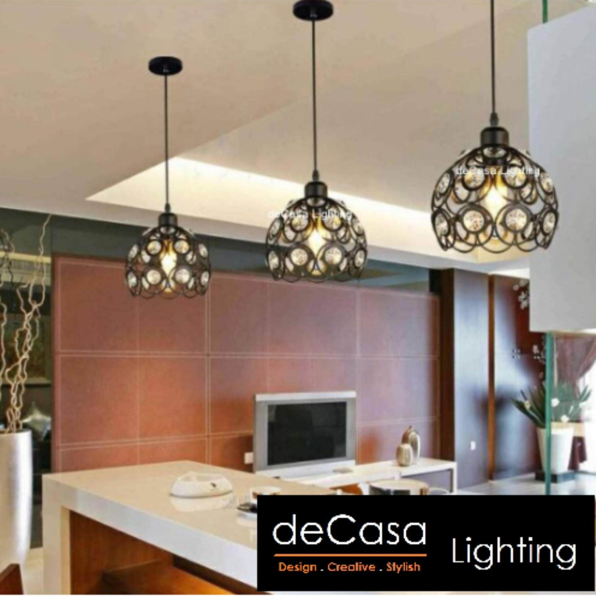 Modern Decorative Ceiling Lamp (Black) Decasa Lighting Modern Style Ceiling Lamp (HD-1303-200)
