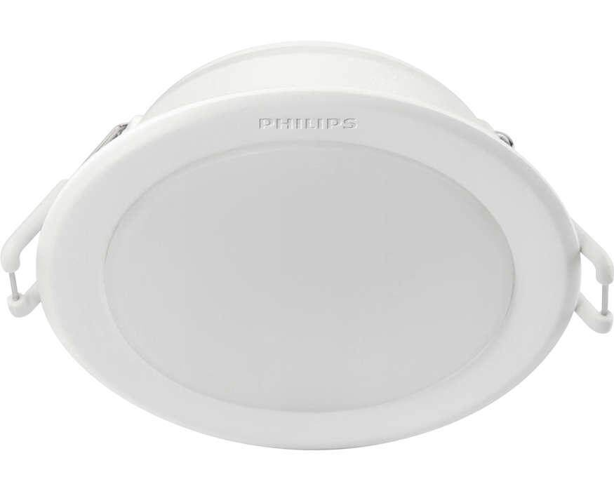 PHILIPS 59202 MESON 105 7W 30K / 40K / 65K WH recessed LED