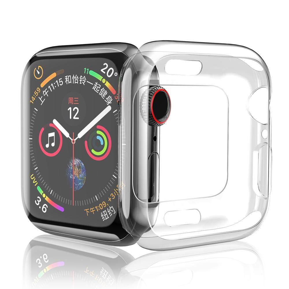 HOCO Sarung TPU untuk Apple Watch Series 4 Lembut Transparan Case 44 Mm 40 Mm Bening
